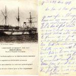 Carte postale du navire hôpital français BIEN-HOA.