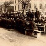 Pešadijski puk Kralj Petar na Božić 1918. godine u Zagrebu