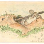 Zeichnungen vom Leutnant der Reserve Ernst Hartung