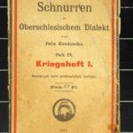 Reimeheft mit Texten im Oberschlesischen Dialekt