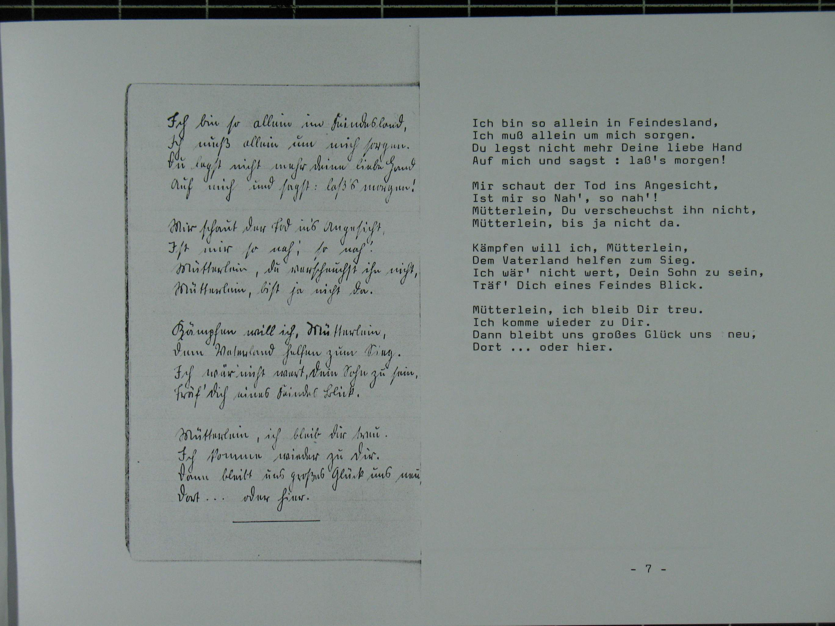 Brief an meinen sohn gedichte