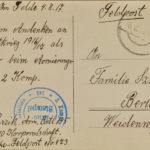 Pocztówka od Parzika do Teresy Szwedek