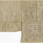 Józef Skrzypczak pisze list z frontu, z Proyart, do rodziny