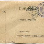 Listy z Czerwonego Krzyża w sprawie zaginionego Jana Matysiaka