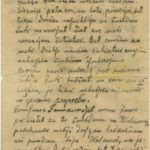 Letter of Latvian Riflemen Reserve Regiment's rifleman to Otilija Krampe in Valmiera