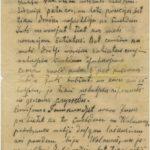 Letter of Latvian Riflemen Reserve Regiment's rifleman to Otilija Krampe in Valmiera
