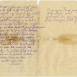 Letter of a Latvian Riflemen Reserve Regiment's rifleman to Otilia Krampe in Valmiera