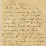 Letter of Latvian Riflemen Reserve Regiment's rifleman to Otilija Krampe in Valmiera, page 1