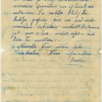 Letter of Latvian Riflemen Reserve Regiment's rifleman to Otilija Krampe in Valmiera, page 3