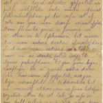 Letter of the National Guard soldier of the 8th company of the 176th Reserve Infantry battalion of the Russian Army Andrejs Krampe to his sister Otilija Krampe in Valmiera, page 1