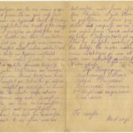 Letter of the National Guard soldier of the 8th company of the 176th Reserve Infantry battalion of the Russian Army Andrejs Krampe to his sister Otilija Krampe in Valmiera, page 2-3
