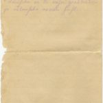 Letter of the National Guard soldier of the 8th company of the 176th Reserve Infantry battalion of the Russian Army Andrejs Krampe to his sister Otilija Krampe in Valmiera, page 4