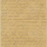 Letter of a soldier of the 3rd company of the 14th Arkhangelsk Druzina (Companions) of the Russian Army Andrejs Krampe to his mother in Valmiera, page 1