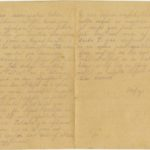 Letter of a soldier of the 3rd company of the 14th Arkhangelsk Druzina (Companions) of the Russian Army Andrejs Krampe to his mother in Valmiera, page 2-3