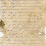 Letter of a soldier of the 3rd company of the 14th Arkhangelsk  druzina (companions) of the Russian army Andrejs Krampe to his sister Otilija Krampe in Valmiera