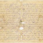 Letter of a soldier of the 3rd company of the 14th Arkhangelsk  druzina (companions) of the Russian army Andrejs Krampe to his sister Otilija Krampe in Valmiera, pages 2-3