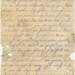 Letter of a soldier of the 3rd company of the 14th Arkhangelsk  druzina (companions) of the Russian army Andrejs Krampe to his sister Otilija Krampe in Valmiera, page 4
