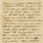 Letter to inhabitant of Governorate of Kurzeme Otilija Krampe from friend Marta from Vanagi, page 1