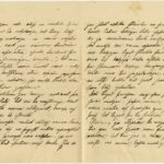 Letter to inhabitant of Governorate of Kurzeme Otilija Krampe from friend Marta from Vanagi, page 2-3