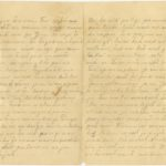 Letter to refugee from Governorate of Kurzeme Otilija Krampe in Valmiera from friend Zelma from Steķi., page 2-3