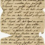 Letter of a soldier of the 3rd company of the 14th Arkhangelsk Druzina (Companions) of the Russian Army Andrejs Krampe to his mother in Valmiera
