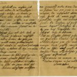 Letter of a soldier of the 3rd company of the 14th Arkhangelsk Druzina (Companions) of the Russian Army Andrejs Krampe to his sister Otilija Krampe in Valmiera, page 2-3