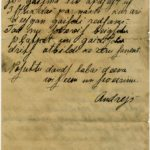 Letter of a soldier of the 3rd company of the 14th Arkhangelsk Druzina (Companions) of the Russian Army Andrejs Krampe to his mother in Valmiera, page 4