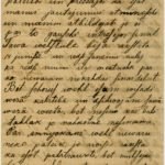 Letter of a soldier of the 3rd company of the 14th Arkhangelsk Druzina (Companions) of the Russian Army Andrejs Krampe to his sister Otilija Krampe in Valmiera, page 1