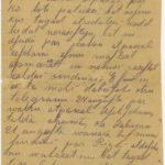 Letter of a soldier of the 5th company of the 59th Labour battalion of the Russian Army Andrejs Krampe to his sister Otilija Krampe in Valmiera, page 1
