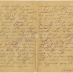 Letter of a soldier of the 5th company of the 59th Labour battalion of the Russian Army Andrejs Krampe to his sister Otilija Krampe in Valmiera, page 2-3