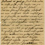 Letter of a soldier of the 5th company of the 59th Labour battalion of the Russian Army Andrejs Krampe to his sister Otilija Krampe in Valmiera, page 4