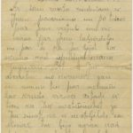 Letter of a Latvian Riflemen Reserve battalion's rifleman Janis to Otilia Krampe in Valmiera. Page 1