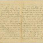 Letter of a Latvian Riflemen Reserve battalion's rifleman Janis to Otilia Krampe in Valmiera., Pages 2-3