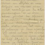 Letter of a Latvian Riflemen Reserve battalion's rifleman Janis to Otilia Krampe in Valmiera.  Page 4