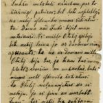 Letter of a Latvian Riflemen Reserve Regiment's rifleman to Otilia Krampe in Valmiera. Page 1