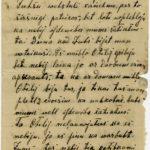 Letter of a Latvian Riflemen Reserve Regiment's rifleman to Otilia Krampe in Valmiera. Page 1