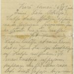 Letter of a Latvian soldier to Otilija Krampe in Valmiera