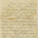 Letter of a Latvian soldier to Otilija Krampe in Valmiera