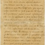 Letter of a soldier of the 4th Section of the 3rd Company of the 2nd United Guard Reserve Infantry Battalion of the Imperial Russian Army Jekabs Ozols to Otilija Krampe in Valmiera