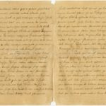 Letter of a soldier of the 4th Section of the 3rd Company of the 2nd United Guard Reserve Infantry Battalion of the Imperial Russian Army Jekabs Ozols to Otilija Krampe in Valmiera., Pages 2-3