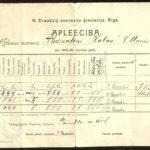 RIX06_361 Natālijas Draudziņas meiteņu ģimnāzijas dokumenti, item 1