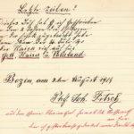 Ausschnitt aus dem Liederbuch von Johann Fitsch, item 3