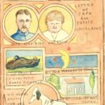 Lettre illustrée de Charles Grauss à sa fille Ghislaine
