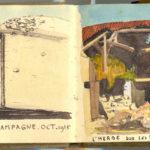 Carnet de croquis, oeuvre de Charles Grauss, item 14