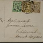 Postkarten an Hotelbesitzerin Jeanne Kons in Echternach, Luxemburg