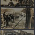 Cartes postales montrant l'arrivée des troupes alliées et la retraite des troupes allemandes