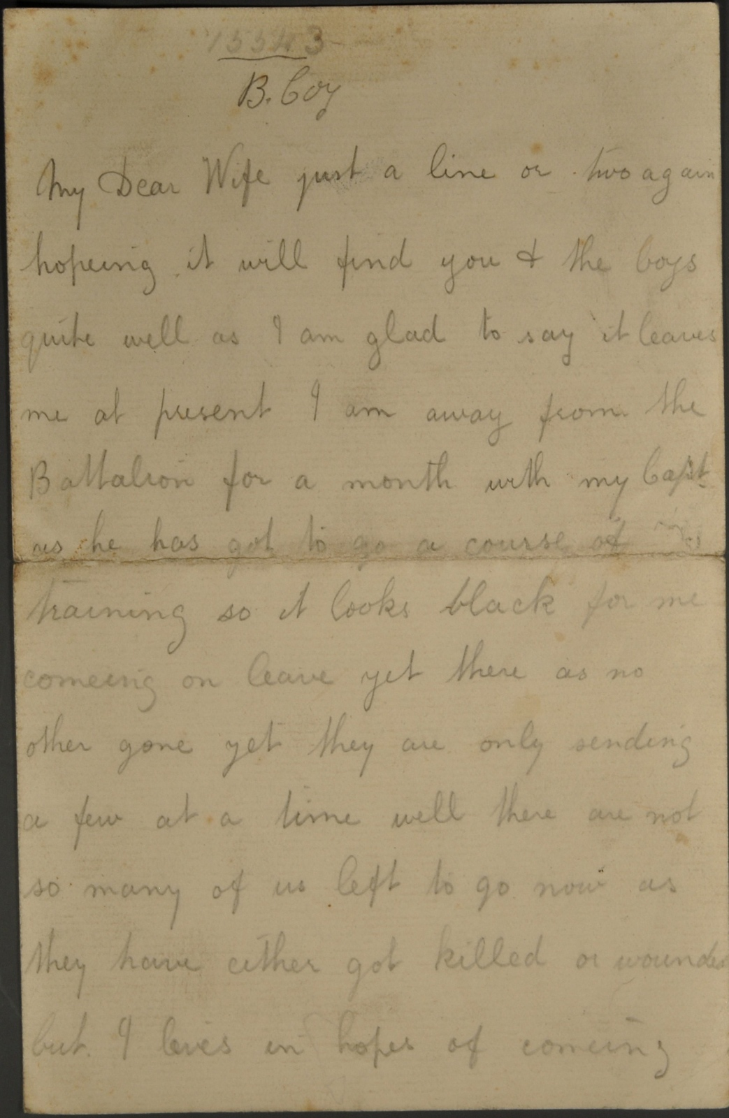 Private Robert William Price – letters to his wife , item 89
