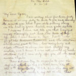 Letters written by Charles Patrick Flanagan, Royal Flying Corps, item 5