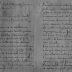 Frammenti di lettere alla famiglia con trascrizione
