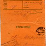 Feltpostbrief, dateret 30. juli 1918